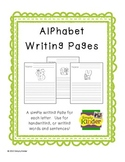 Writing Prompt Picture Pages - Alphabet
