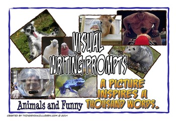 Writing Prompt Pictures and Story Starters (Animals and Funny)