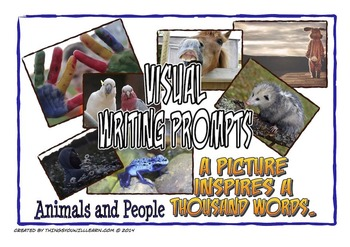 Writing Prompt Pictures and Story Starters (Animals and People)