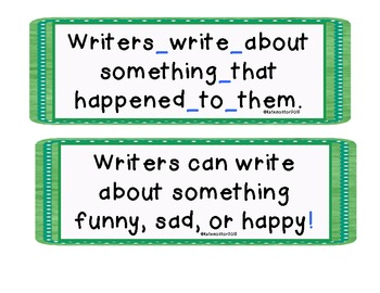 Writing Prompt Posters
