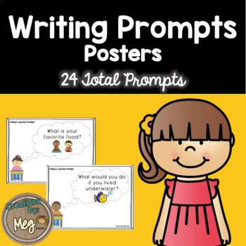 Writing Prompt Posters - Great for Writing Centers