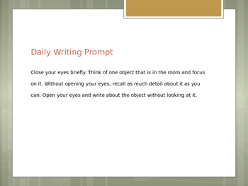 Writing Prompt Power Point
