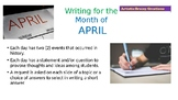 Writing Prompt Powerpoint  April History