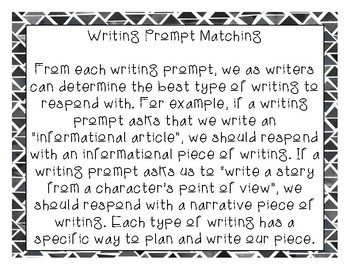 Writing Prompt Response Type Matching- Dissecting Writing Prompts - TEST PREP