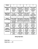 Writing Prompt Rubric