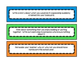 Writing Prompt Strips