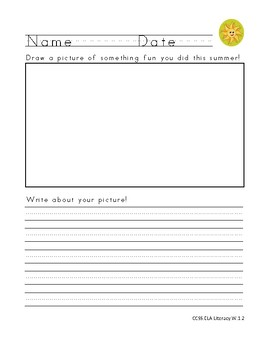 Writing Prompt - Summer Fun!