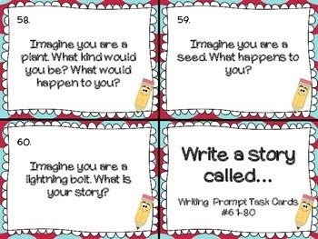 Writing Prompt Task Cards for the Whole Year