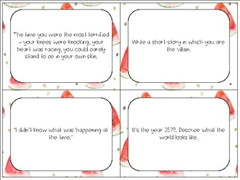 Writing Prompt Task Cards