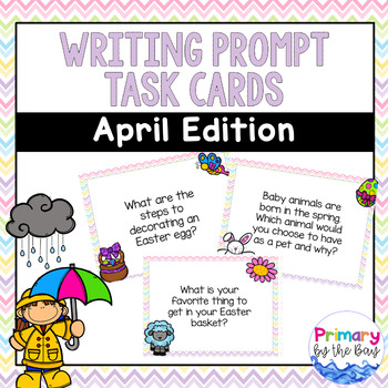 Writing Prompt Task Cards {April Edition}