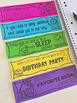 Writing Prompt Task Cards - Black and White Ink Friendly