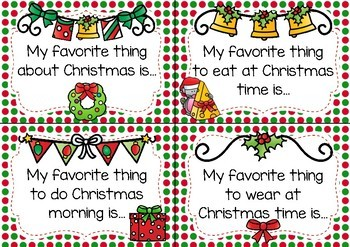 Writing Prompt Task Cards- Christmas Theme
