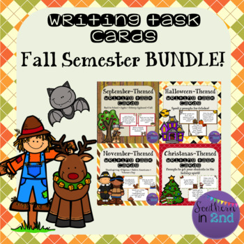 Writing Prompt Task Cards {FALL SEMESTER BUNDLE!}