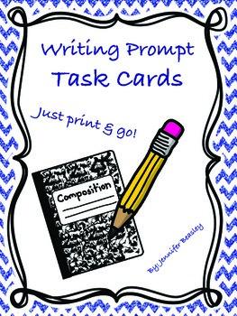 Writing Prompt Task Cards--Freebie!