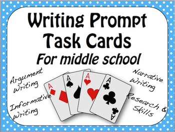 Writing Task Cards: Argument, Narrative, Informative, Research