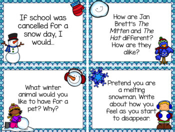 Writing Prompt Task Cards {January Edition}