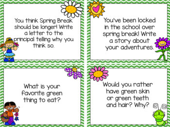 Writing Prompt Task Cards {March Edition}