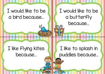 Writing Prompt Task Cards- Spring Theme