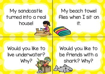 Writing Prompt Task Cards- Summer Theme