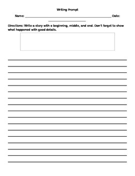 Writing Prompt Template