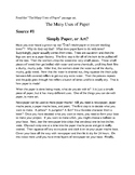 Writing Prompt- The Many Uses of Paper