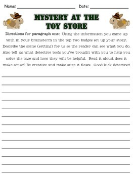 Writing Prompt: Toy Store Mystery