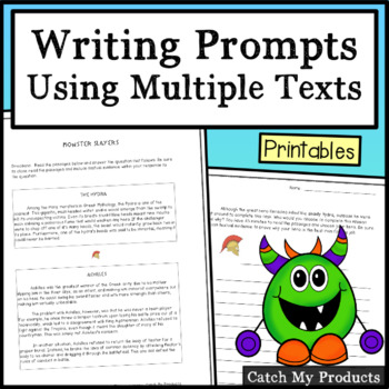 Writing Prompt Using Multiple Texts - Monster Slayer