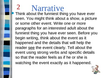 Writing Prompt Variety- Narrative, Informative, Persuasive (Opinion)