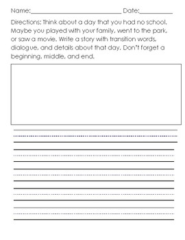 Writing Prompt - Various Sized Lines