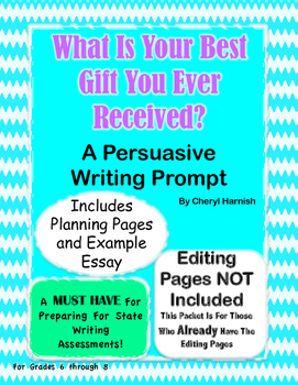 Writing Prompt - What is Your Best Gift?  Writing SOL