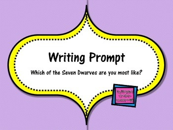 FREE Writing Prompt: Which Seven Dwarves Character are YOU Most Like?