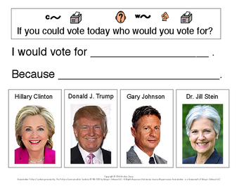 2016 Voting Writing Prompt - Who would you vote for?