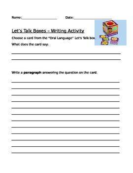 Writing Prompt Worksheet