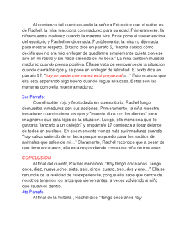 "Writing Prompt and Essay in Spanish ""Eleven"" by Sandra Cisneros"