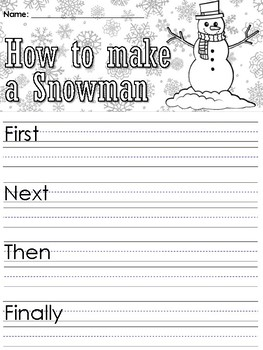 Writing Prompt: How to Make a Snowman