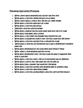Writing Prompt ideas: List