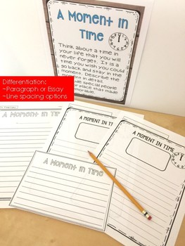 Writing Prompt with Templates:  A Moment in Time