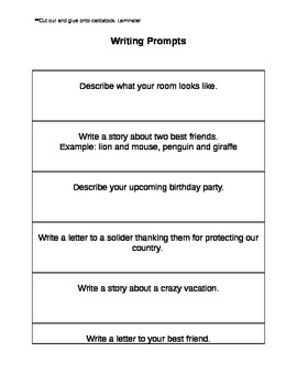 Writing Prompts