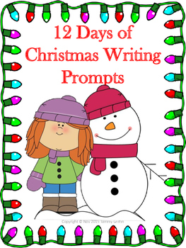 12 Days of Christmas Writing Prompts