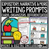 Expository Opinion Narrative Writing Prompts 3rd 4th Grade Graphic Organizers