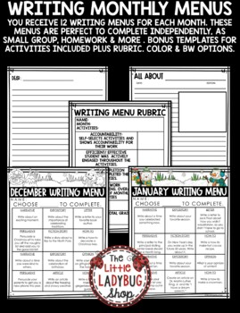 Writing Choice Boards -  3rd Grade, 4th & More