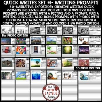 Writing Prompts -3rd Grade , 4th Grade & 2nd Grade,