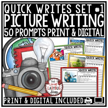 Writing Prompts -3rd Grade, 4th Grade & 2nd Grade - Quick Writes