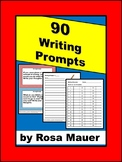 90 Writing Prompts Cards Awesome and Easy-t-Use