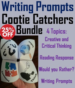 Writing Prompts Activities Bundle: 7th 6th 5th 4th Grade Reading Comprehension