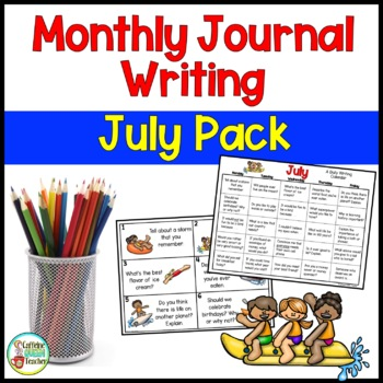 Daily Journal Writing Prompts and Papers for July