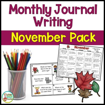 Daily Journal Writing Prompts and Papers for November