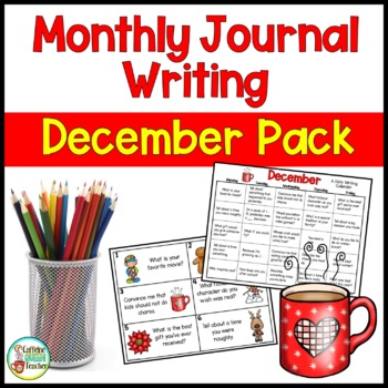Daily Journal Writing Prompts and Papers for December