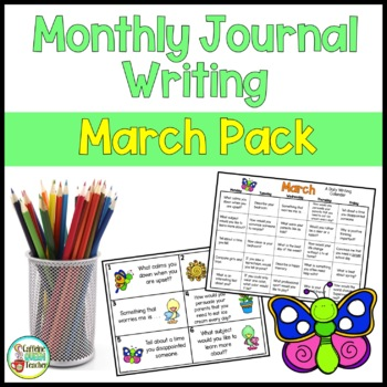 Daily Journal Writing Prompts and Papers for March