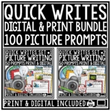 Writing Prompts -3rd Grade, 4th Grade &  2nd Grade Quick Writes